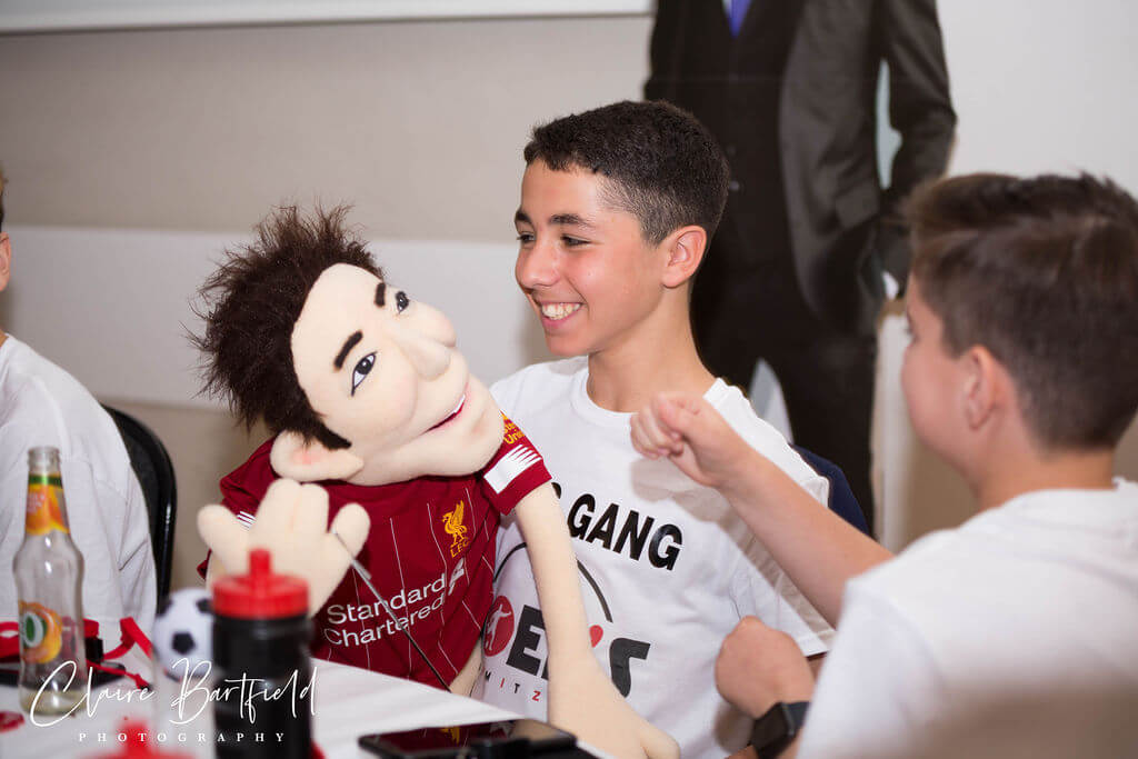 Steve performs his Personalised Puppet at Bar Mitzvah Celebration